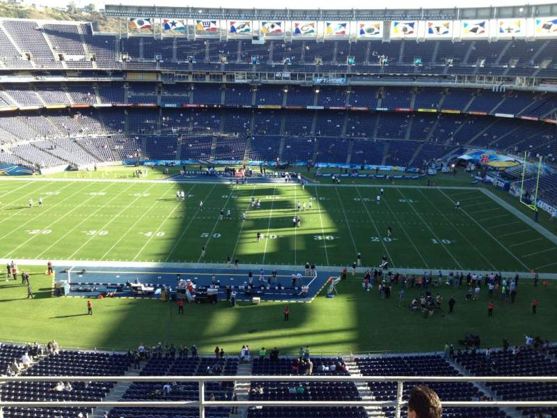 Seating view for Qualcomm Stadium Section V3 Row 5 Seat 17