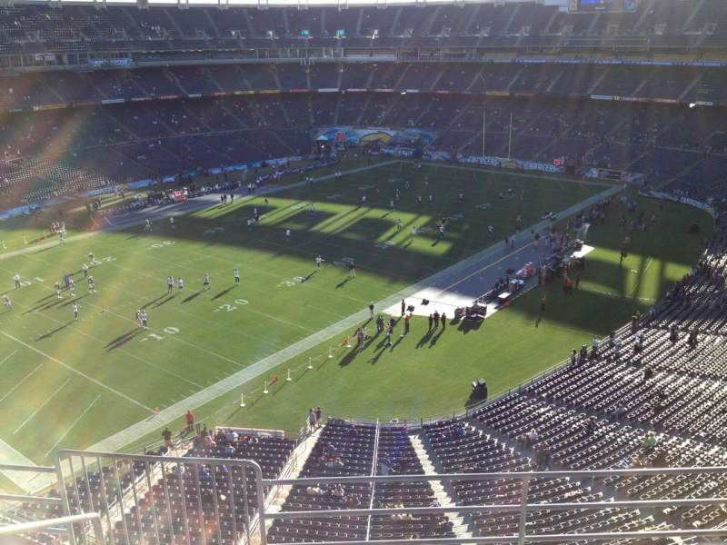 Seating view for Qualcomm Stadium Section V59 Row 5 Seat 6