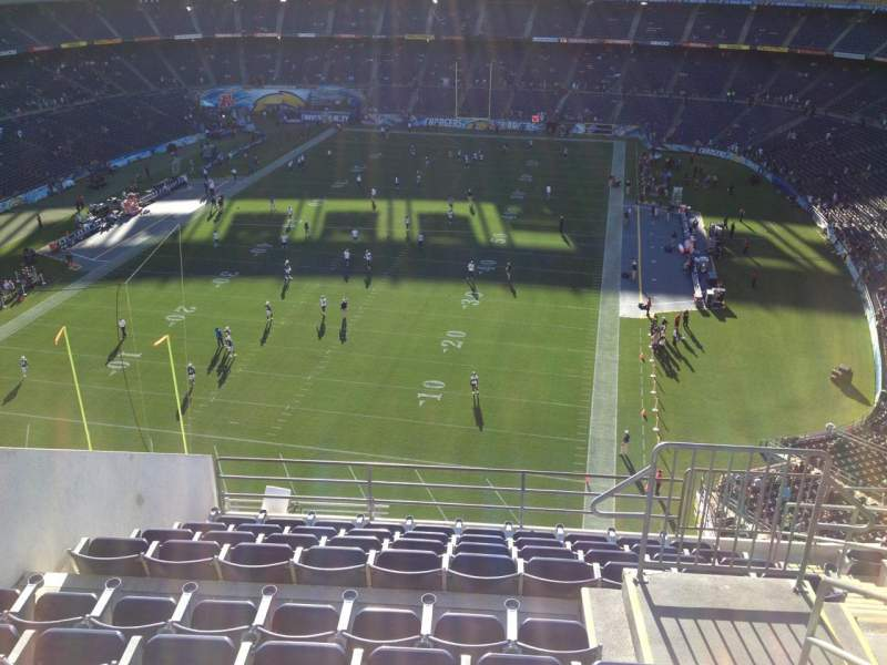 Seating view for Qualcomm Stadium Section V54 Row 10 Seat 8