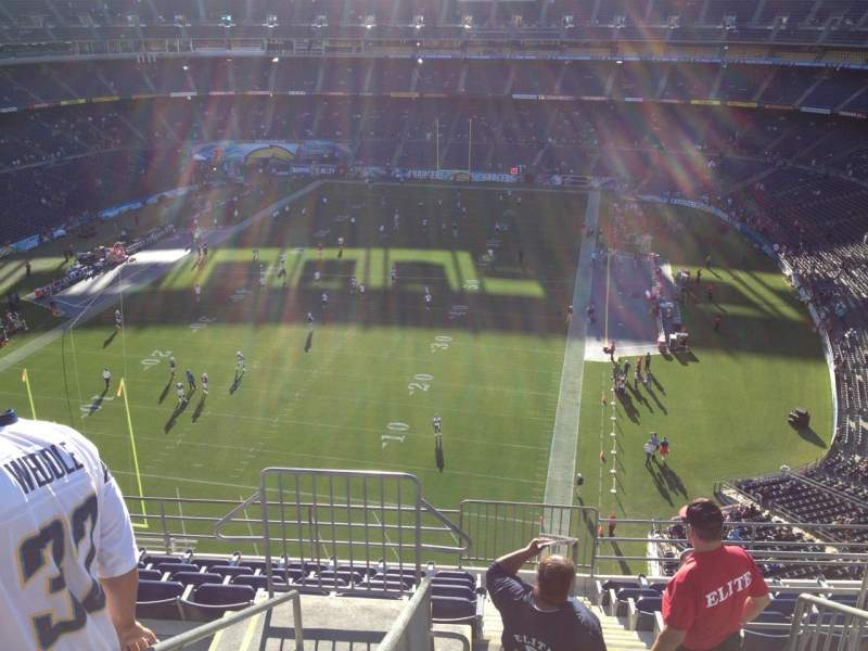 Seating view for Qualcomm Stadium Section V54 Row 10 Seat 14