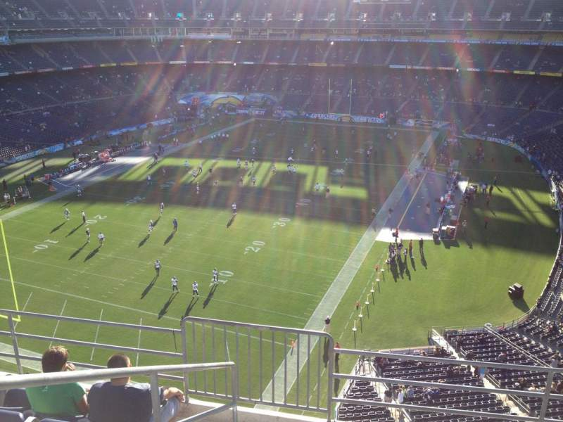 Seating view for Qualcomm Stadium Section V55 Row 9 Seat 1