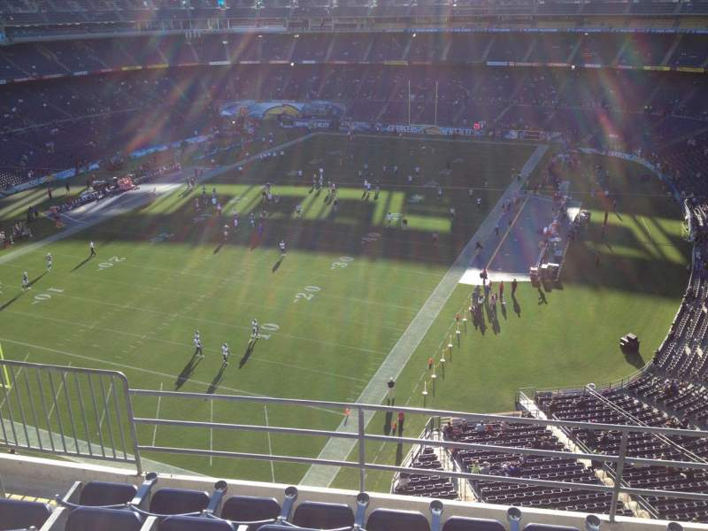 Seating view for Qualcomm Stadium Section V55 Row 9 Seat 4