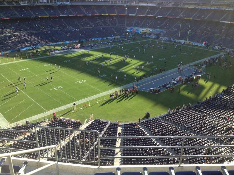 Seating view for Qualcomm Stadium Section V60 Row 6 Seat 6
