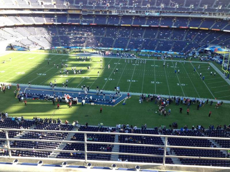 Seating view for Qualcomm Stadium Section V8 Row 5 Seat 18