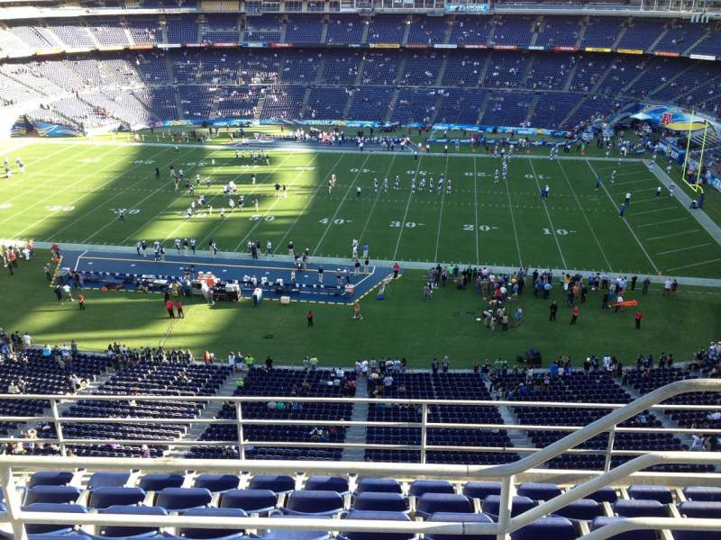 Seating view for Qualcomm Stadium Section V8 Row 6 Seat 19