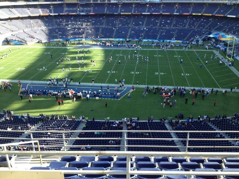 Seating view for Qualcomm Stadium Section V8 Row 6 Seat 16