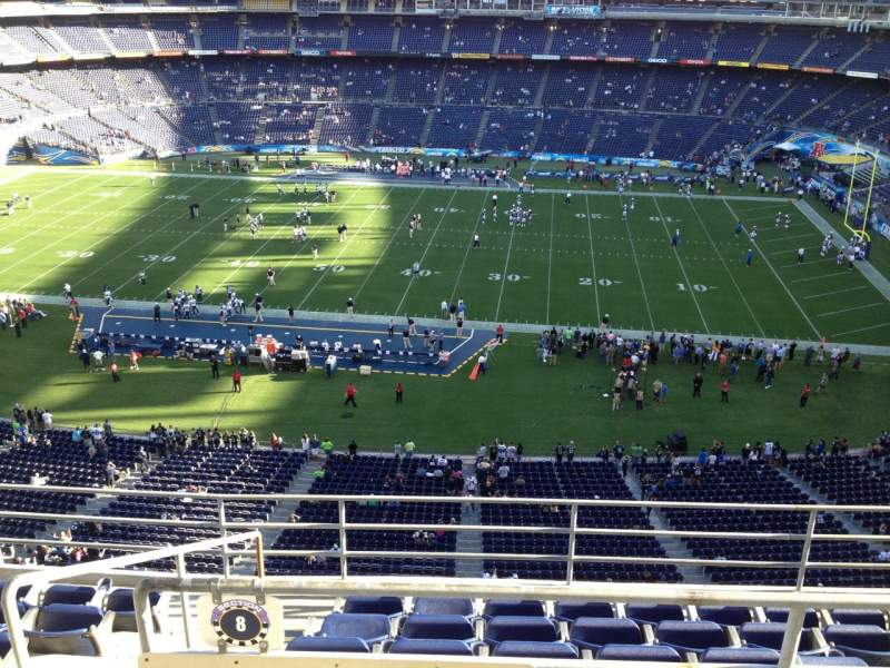 Seating view for Qualcomm Stadium Section V8 Row 6 Seat 13