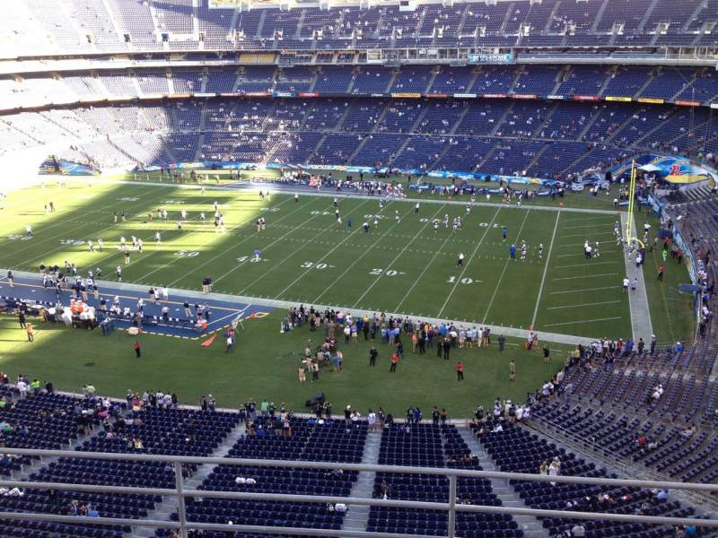 Seating view for Qualcomm Stadium Section V10 Row 5a Seat 4