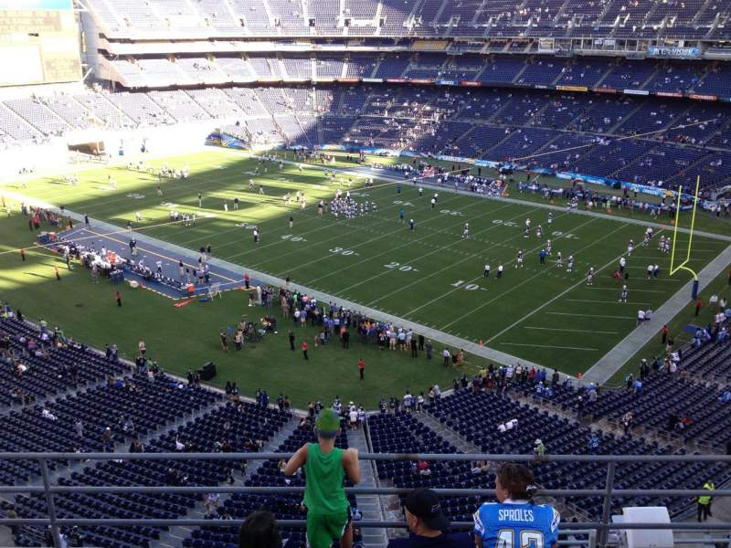 Seating view for Qualcomm Stadium Section V13 Row 5a Seat 1