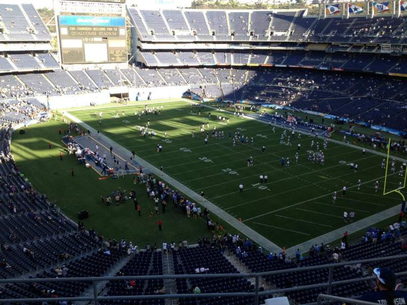 Seating view for Qualcomm Stadium Section V15 Row 5 Seat 5