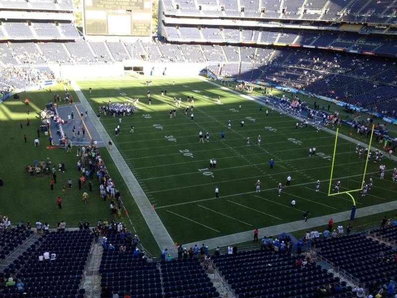Seating view for Qualcomm Stadium Section V18 Row 1 Seat 19