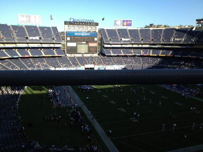 Seating view for Qualcomm Stadium Section V18 Row 1 Seat 18