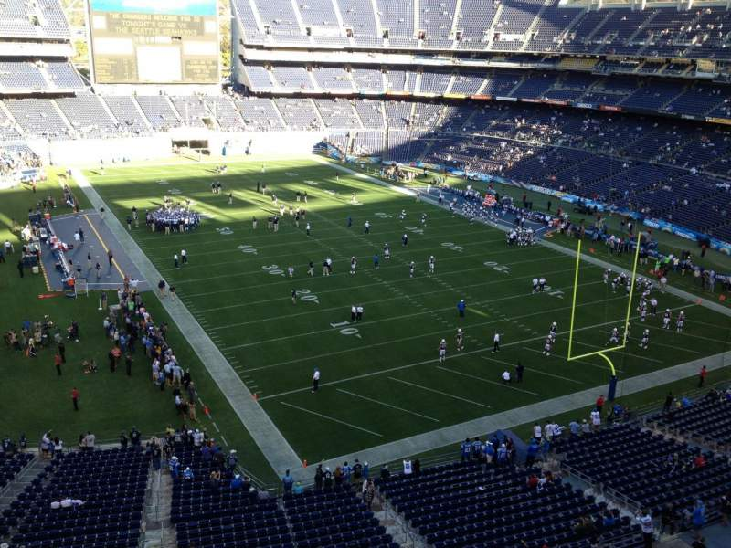 Seating view for Qualcomm Stadium Section V18 Row 1 Seat 15