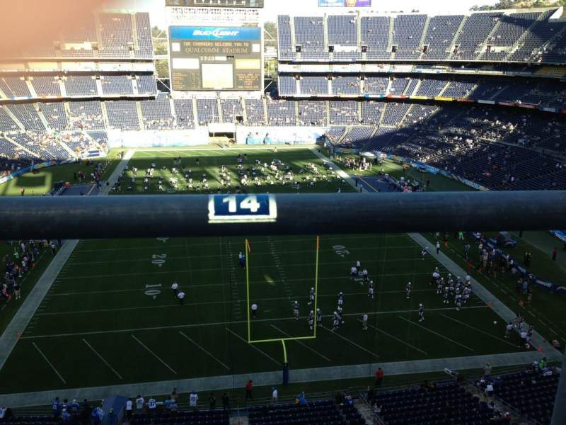 Seating view for Qualcomm Stadium Section V20 Row 5a Seat 14