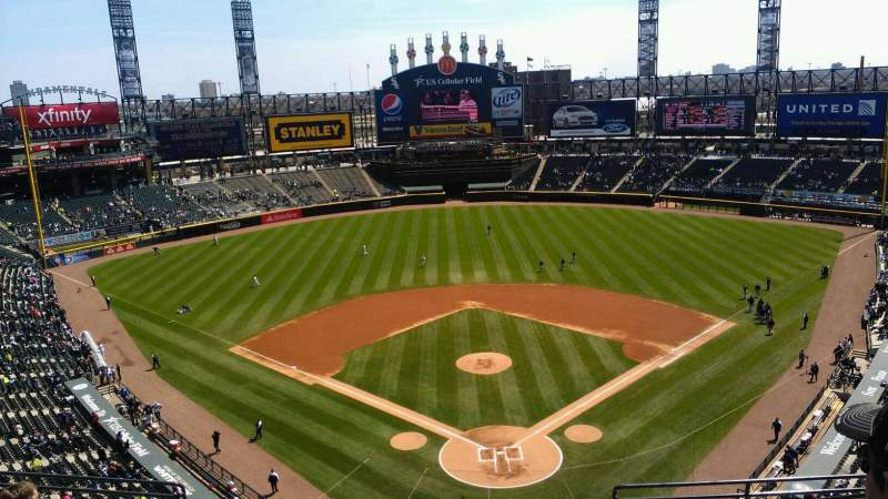 Seating view for Guaranteed Rate Field Section 533 Row 8 Seat 5