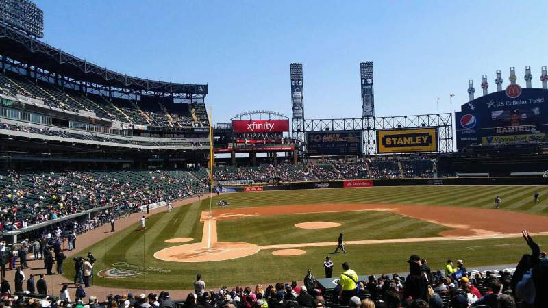 Seating view for Guaranteed Rate Field Section 128 Row 29 Seat 8