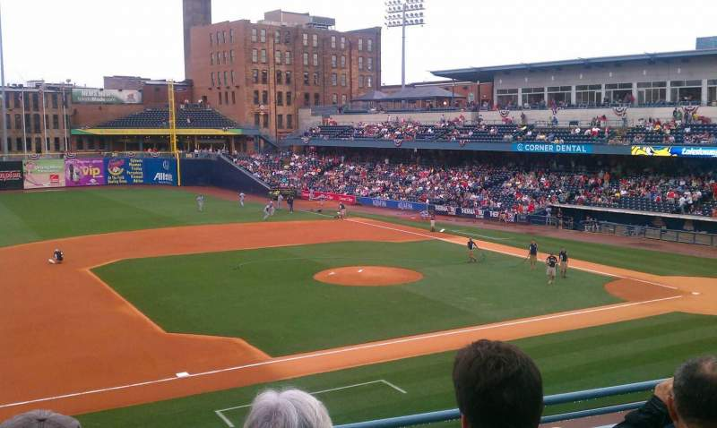 Seating view for Fifth Third Field Section 203 Row D Seat 7