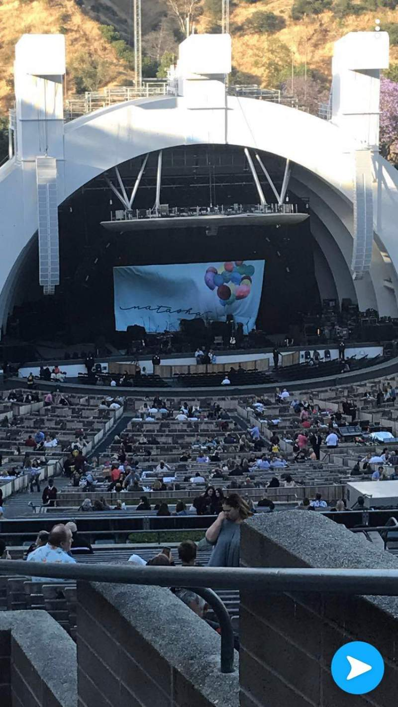 Hollywood Bowl, section: U1, row: 7, seat: 46