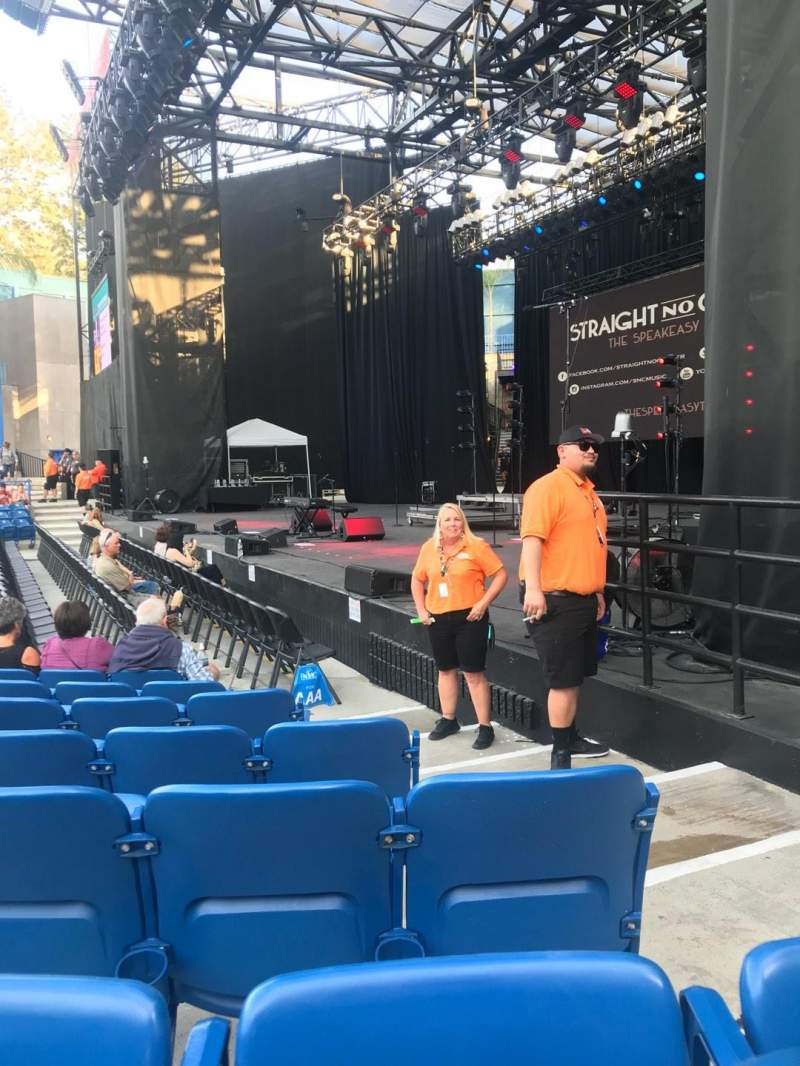 Seating view for Pacific Amphitheatre Section 1 Row B Seat 17