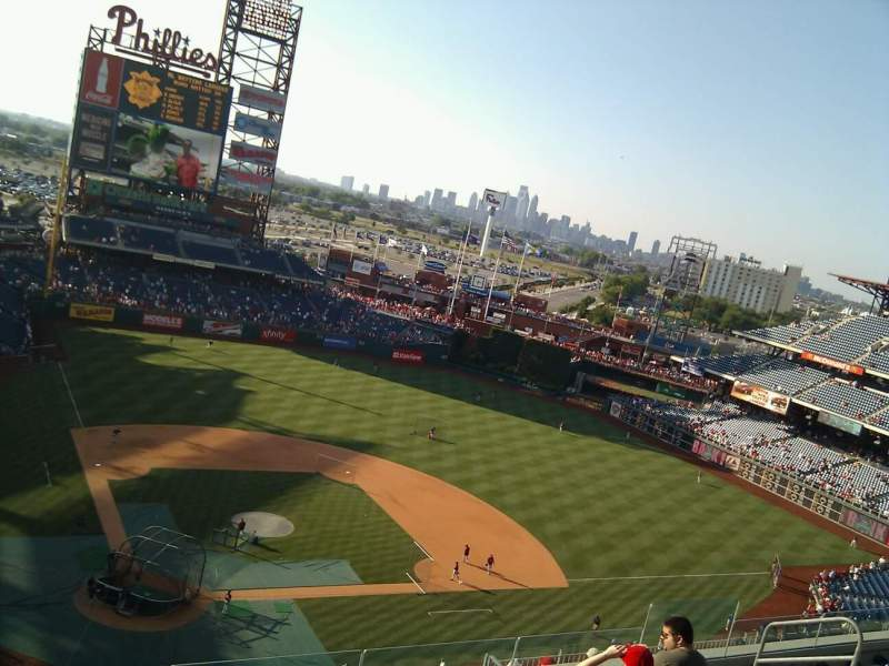 Seating view for Citizens Bank Park Section 418 Row 7 Seat 13