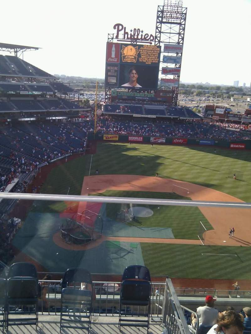 Seating view for Citizens Bank Park Section 417 Row 1 Seat 3