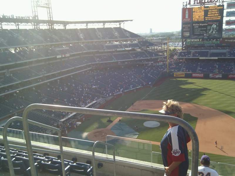 Seating view for Citizens Bank Park Section 415 Row 6 Seat 21