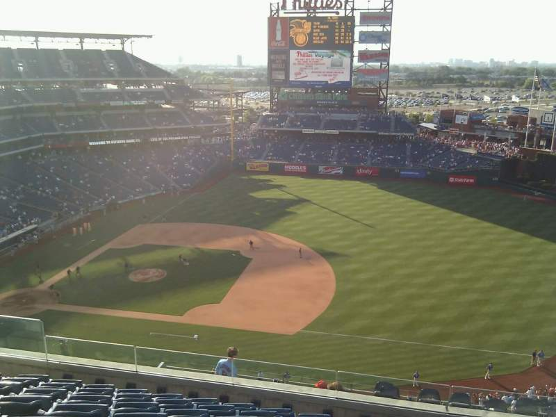 Seating view for Citizens Bank Park Section 413 Row 8 Seat 14