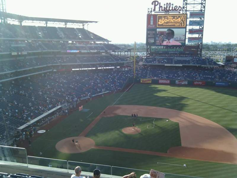 Seating view for Citizens Bank Park Section 315 Row 8 Seat 15