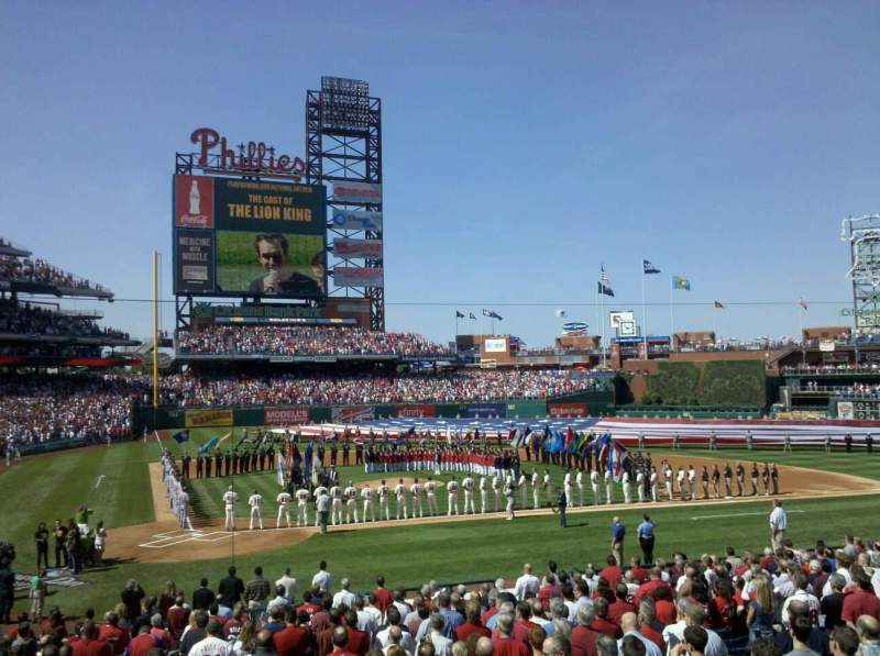 Seating view for Citizens Bank Park Section 120 Row 22