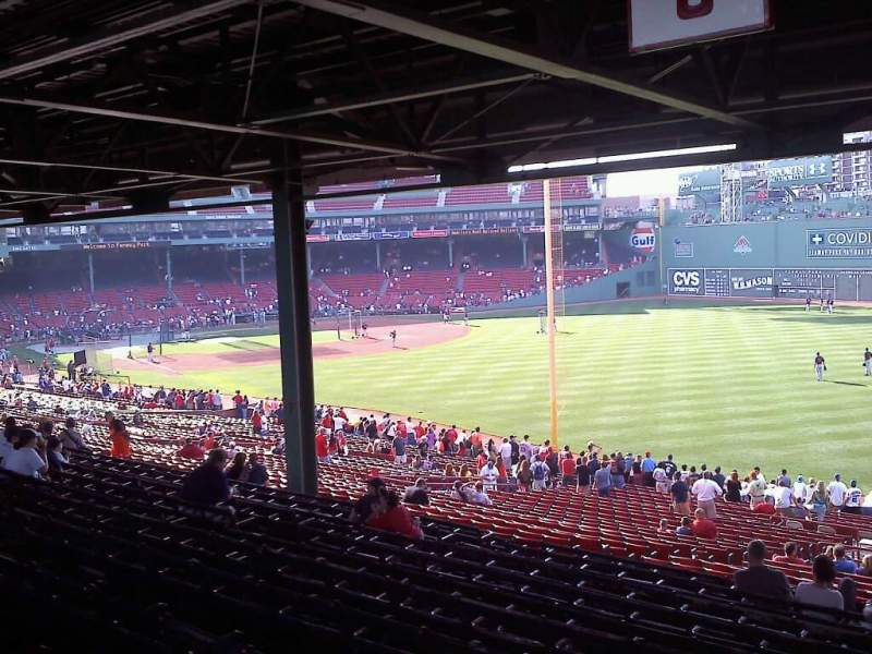 Seating view for Fenway Park Section Grandstand 6 Row 15 Seat 7