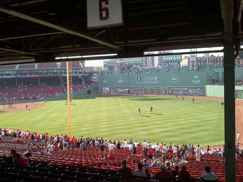 Seating view for Fenway Park Section Grandstand 6 Row 15 Seat 8