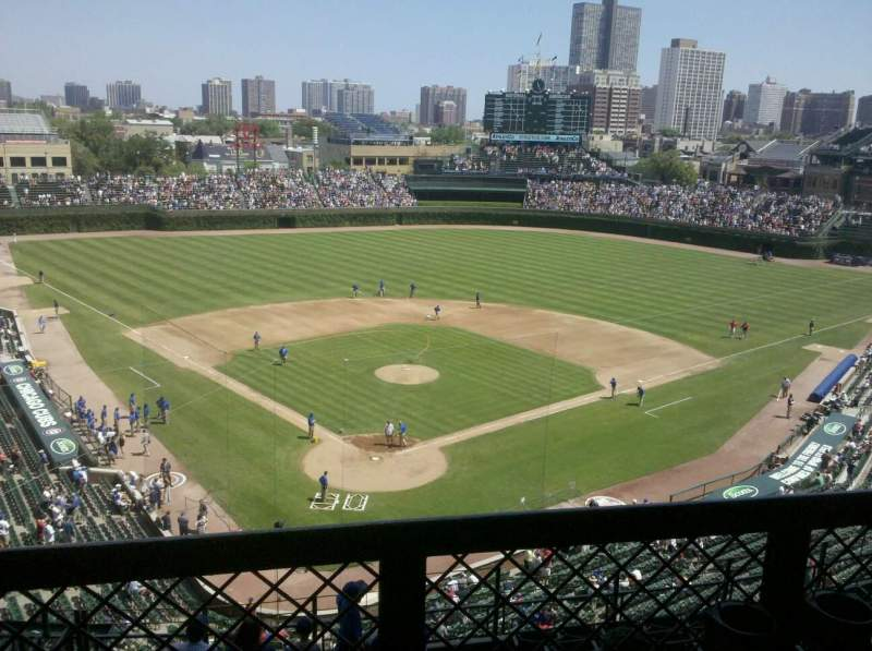 Seating view for Wrigley Field Section 319R Row 1 Seat 6