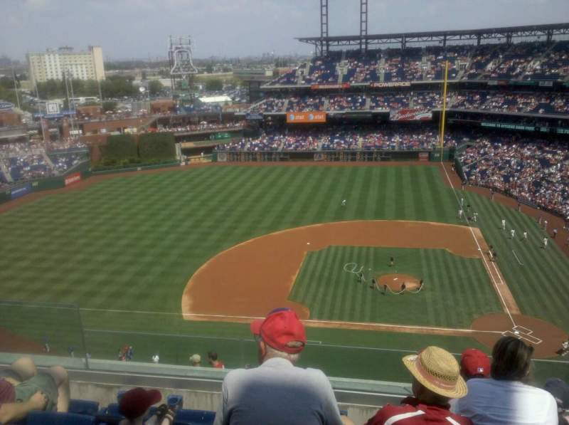 Seating view for Citizens Bank Park Section 426 Row 4 Seat 20