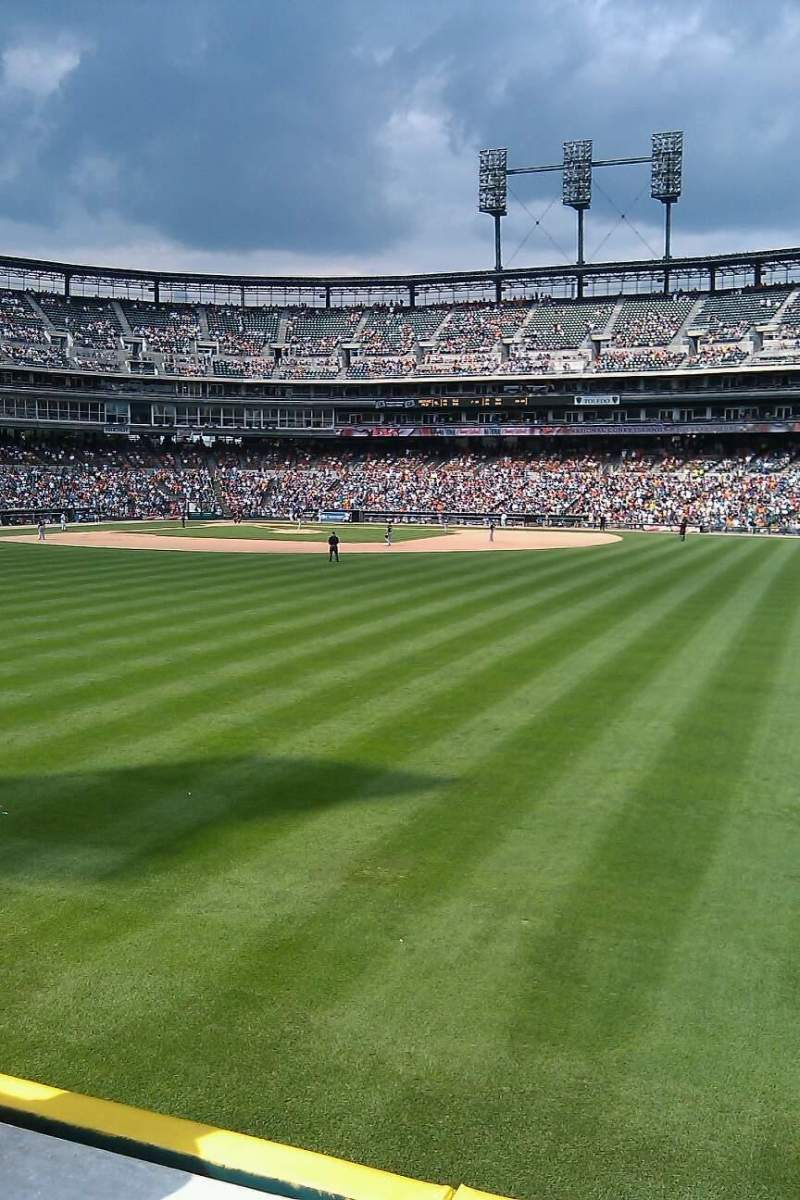 Seating view for Comerica Park Section 117 Row g Seat 2