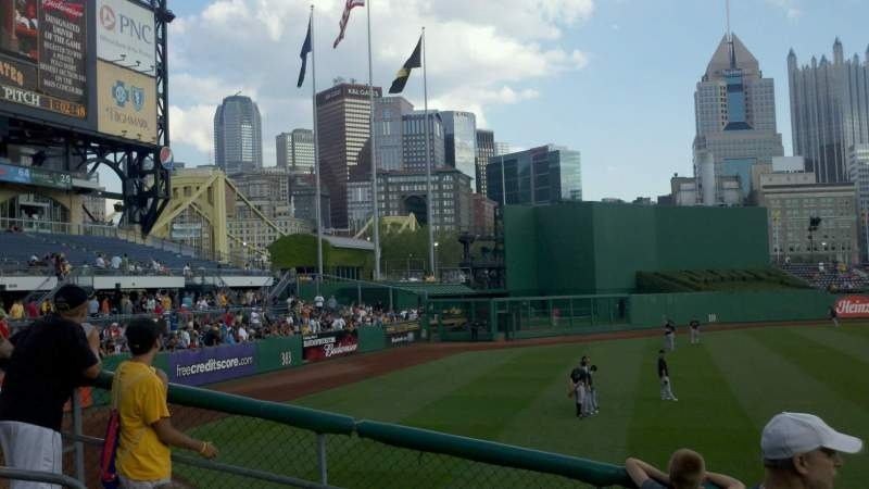 Seating view for PNC Park Section bleacher