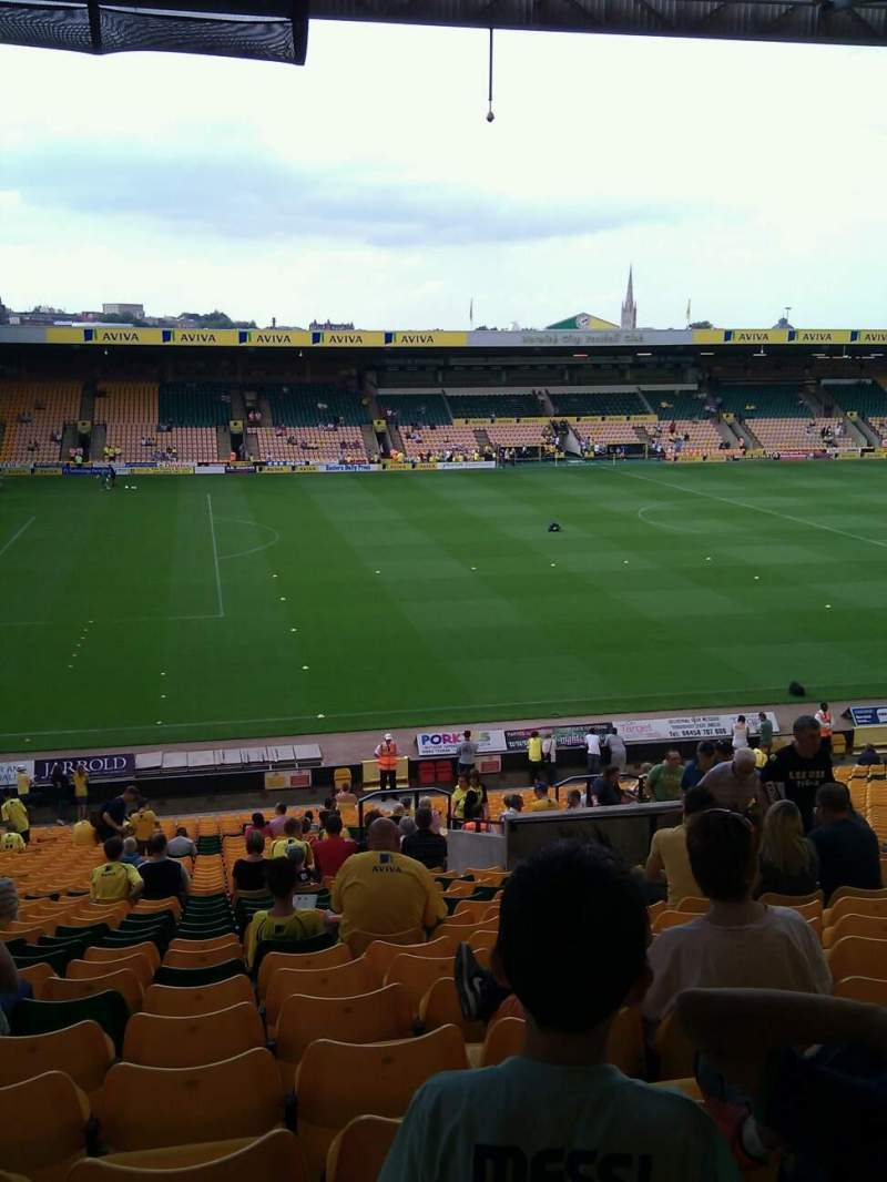 Seating view for Carrow Road Section M