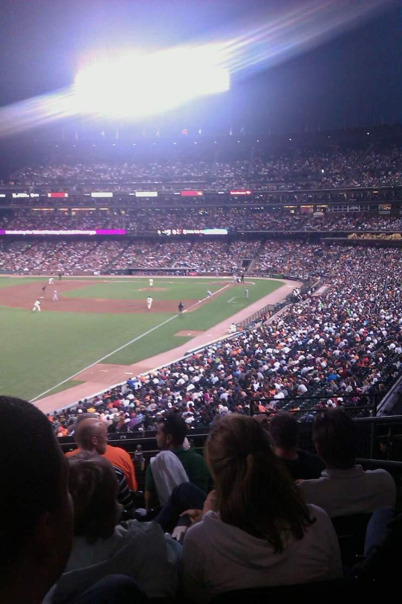 Seating view for AT&T Park Section 233 Row f Seat 3