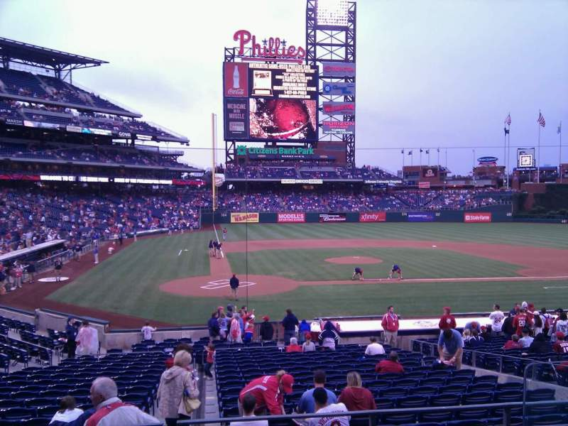 Seating view for Citizens Bank Park Section 120 Row 21 Seat 4