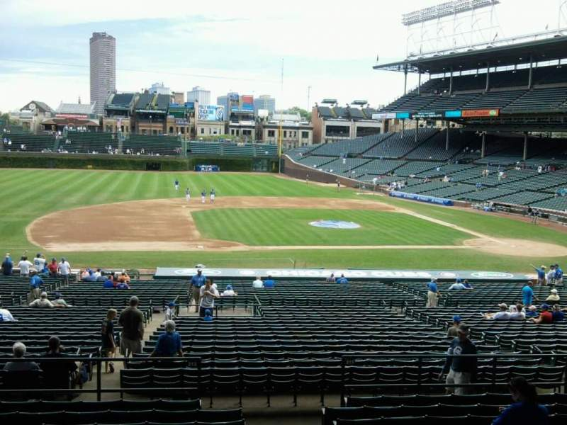 Seating view for Wrigley Field Section 210 Row 11 Seat 25