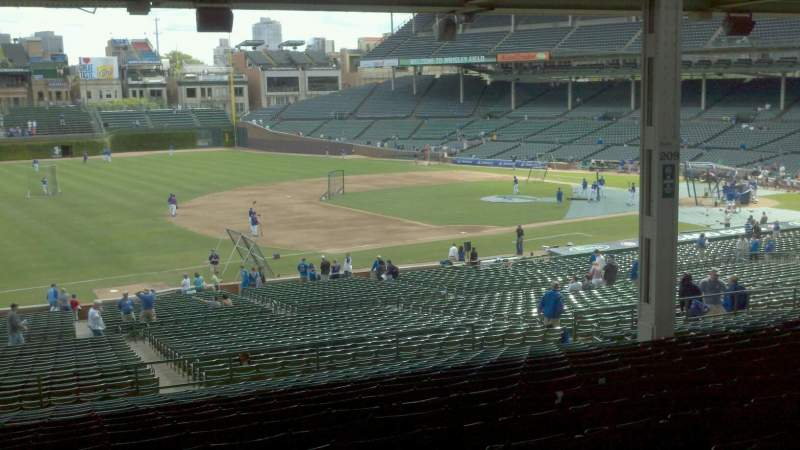 Seating view for Wrigley Field Section 208 Row 18 Seat 5