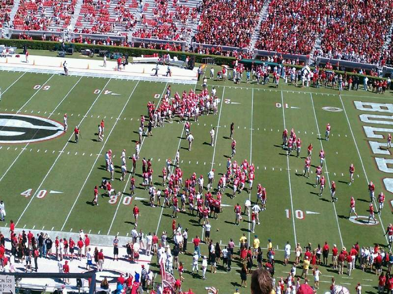Seating view for Sanford Stadium Section 329 Row 12 Seat 25