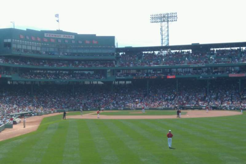 Seating view for Fenway Park Section Bleacher 43 Row 19