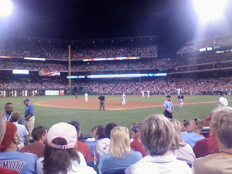 Seating view for Citizens Bank Park Section 134 Row 8 Seat 11