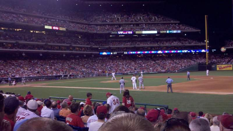 Seating view for Citizens Bank Park Section 114 Row 13 Seat 2