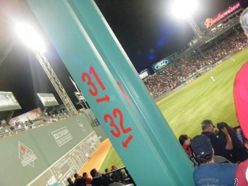 Seating view for Fenway Park Section Grandstand 31 Row 10 Seat 1