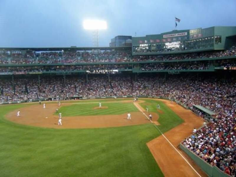 Seating view for Fenway Park Section Green Monster 2 Row 2 Seat 8