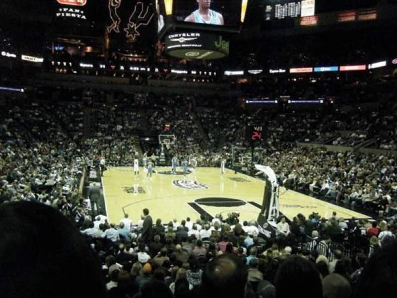 Seating view for At&T Center Section 101 Row 20 Seat 18