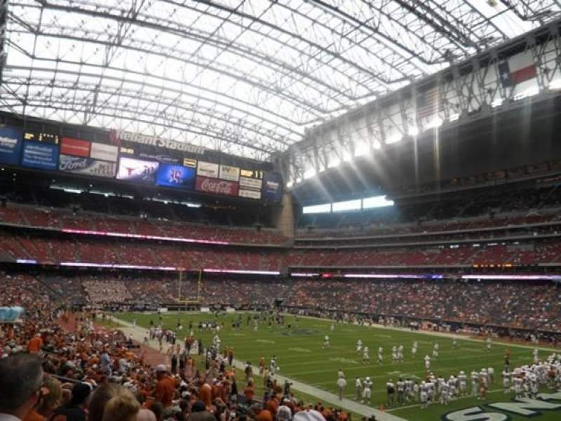 Seating view for NRG Stadium Section 120 Row BB Seat 3