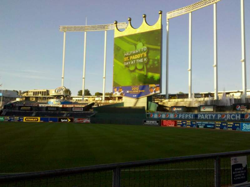 Seating view for Kauffman Stadium Section 142 Row d Seat 6