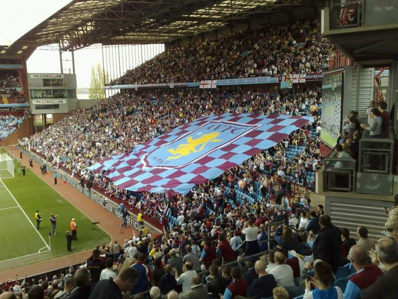 Seating view for Villa Park Section Trinity Rd Row B6 Seat 141